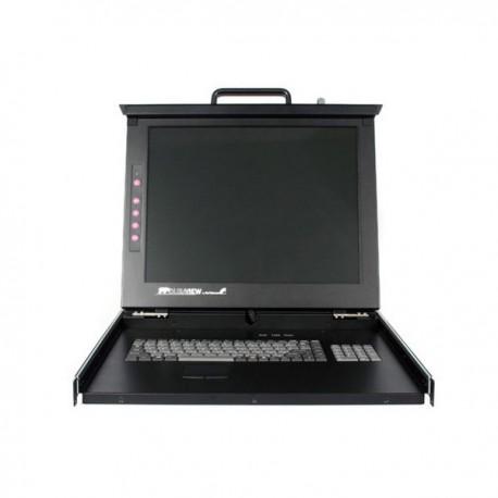 "StarTech.com 19"" Folding LCD Rack Console With 16 Port Multi-Platform KVM"