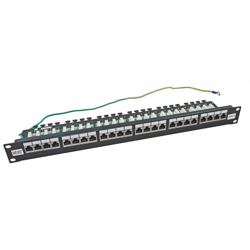 24 port cat6a ftp shielded ccs 20 20 right angled patch panel. Black Bedroom Furniture Sets. Home Design Ideas