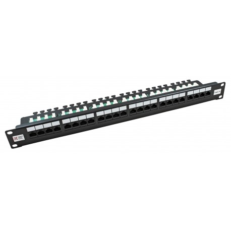 24 Port Cat5e CCS 2020 Right Angled Patch Panel