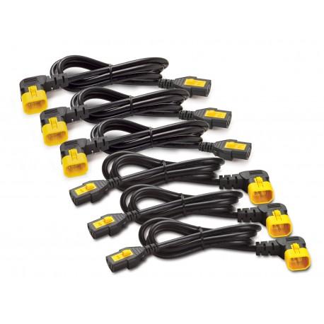APC AP8704R-WW Power Cord Kit (6 ea), Locking, C13 to C14 (90 Degree), 1.2m
