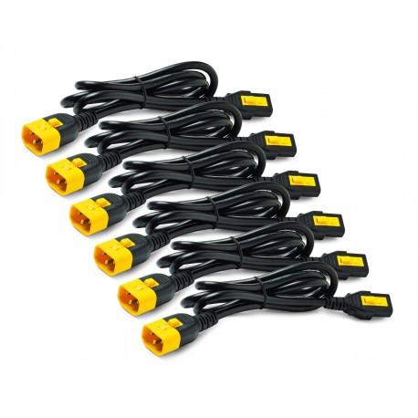 APC AP8706S-WW Power Cord Kit (6 ea), Locking, C13 to C14, 1.8m
