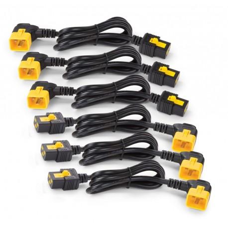 APC AP8712R Power Cord Kit (6 ea), Locking, C19 to C20 (90 Degree), 0.6m