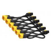 APC AP8712S Power Cord Kit (6 ea), Locking, C19 to C20, 0.6m