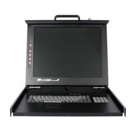 "StarTech 1U 19"" Rackmount LCD Console with 16 Port Multi-Platform KVM"