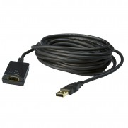 USB 2.0 A Male - A Female Active Extension Cable