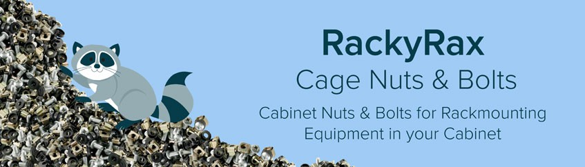 RackyRax cage nuts and bolts