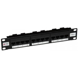 "12 Port Cat6 10"" UTP Patch Panel"