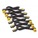 APC AP8702R-WW Power Cord Kit (6 ea), Locking, C13 TO C14 (90 Degree), 0.6m