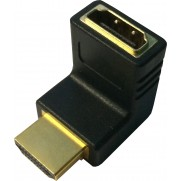 HDMI Male to Female Right Angle Adapter
