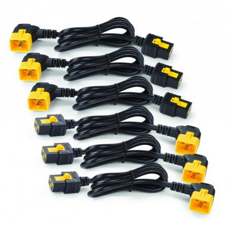 APC AP8716R Power Cord Kit (6 ea), Locking, C19 to C20 (90 Degree), 1.8m