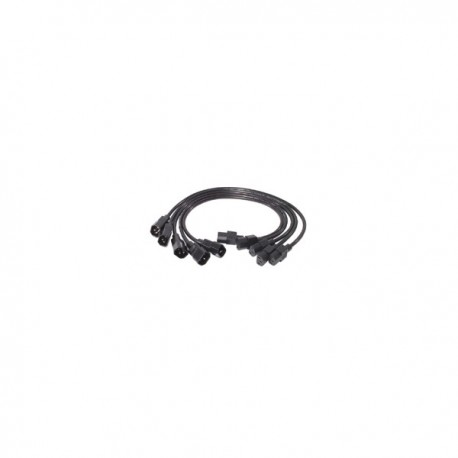 APC AP9890 Power Cord Kit (5 ea), C13 to C14, 0.6m