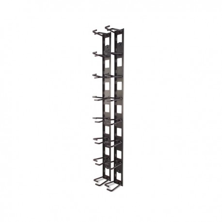 APC Vertical Cable Organizer, 8 Cable Rings, Zero U
