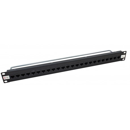 24 Port Thru-Coupler Cat5e UTP RJ45 Patch Panel