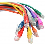 Cat5e RJ45 patch leads, multiple colours available