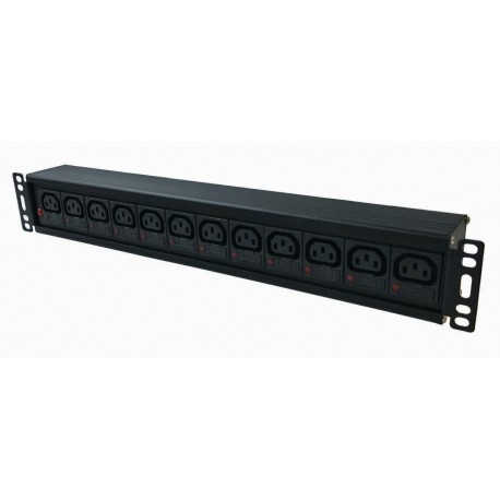 Individually Fused IEC C13 Socket / C16 Commando Plug Rack PDU