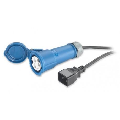 IEC C20 to IEC309 (16A) Power Lead - 2.5m
