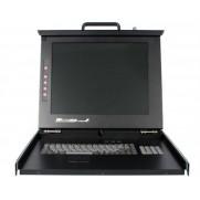 "StarTech 1U 17"" Rackmount LCD Console with 8 Port Multi-Platform KVM"