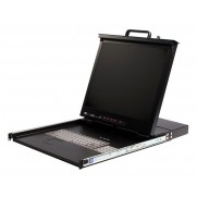 StarTech 1U 19in Rackmount LCD Console with Integrated 8 Port KVM Switch