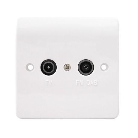 Duplex TV Plate (TV + FM/DAB)