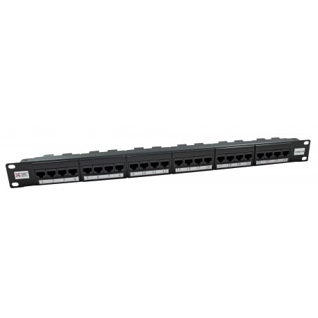 24 Port Cat5e UTP Elite Patch Panel + Rear Cable Managment