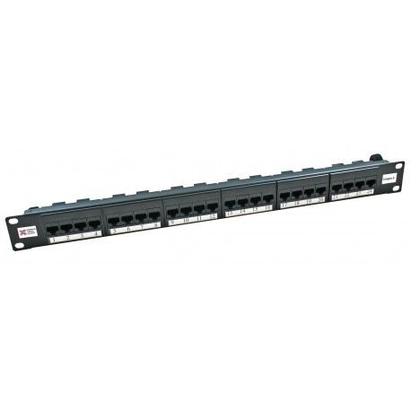 24 Port Cat6 UTP Elite Patch Panel + Rear Cable Managment
