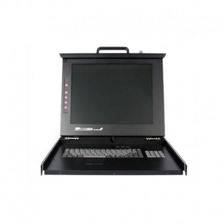 "StarTech.com 1U 17"" Rackmount LCD Console with 8 Port Multi-Platform KVM"