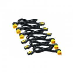 APC AP8706R-WW Power Cord Kit (6 ea), Locking, C13 to C14 (90 Degree), 1.8m