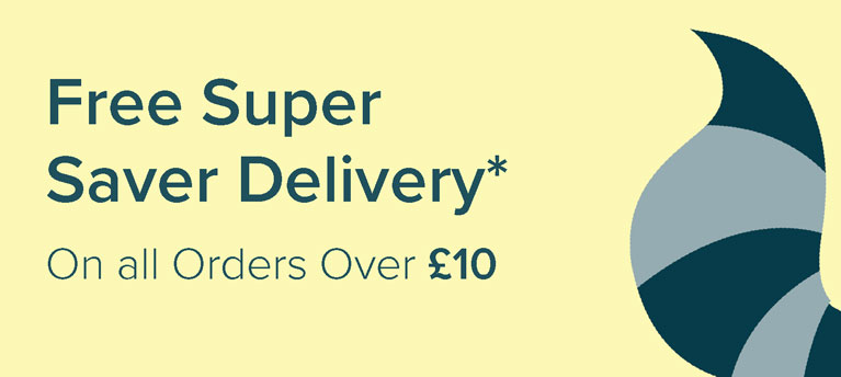 Free Super Saver Delivery - on all orders over £10